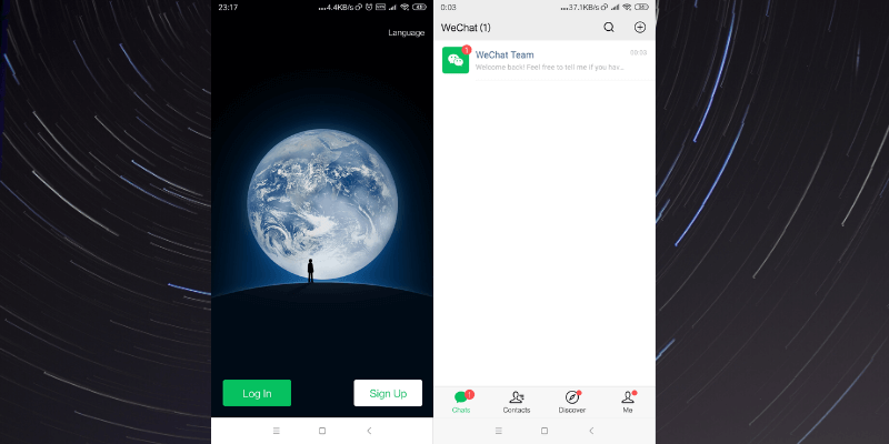 Email wechat with sign up WeChat